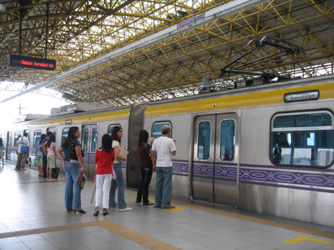an LRT station in manila