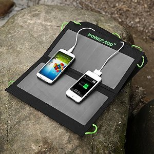 Poweradd 7W Foldable Solar Panel Portable Solar Charger for iphone, iPad, iPod and Many Other 5V USB-Charged Devices