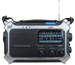 Kaito KA550 Portable Solar / Hand Crank AM/FM, Shortwave & NOAA Weather Emergency Radio with Automatic Weather Alert & Cell Phone Charger